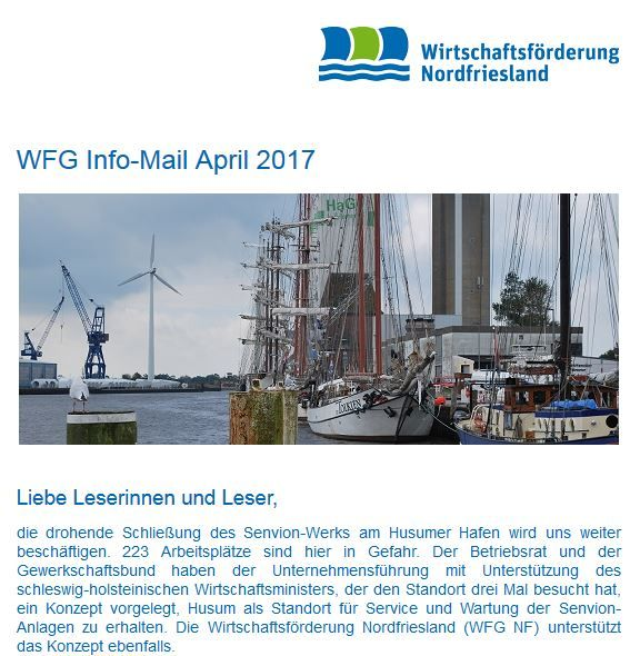 WFG Info-Mail April 2017 erschienen